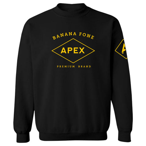 Apex Diamond Crewneck - Yel on Blk