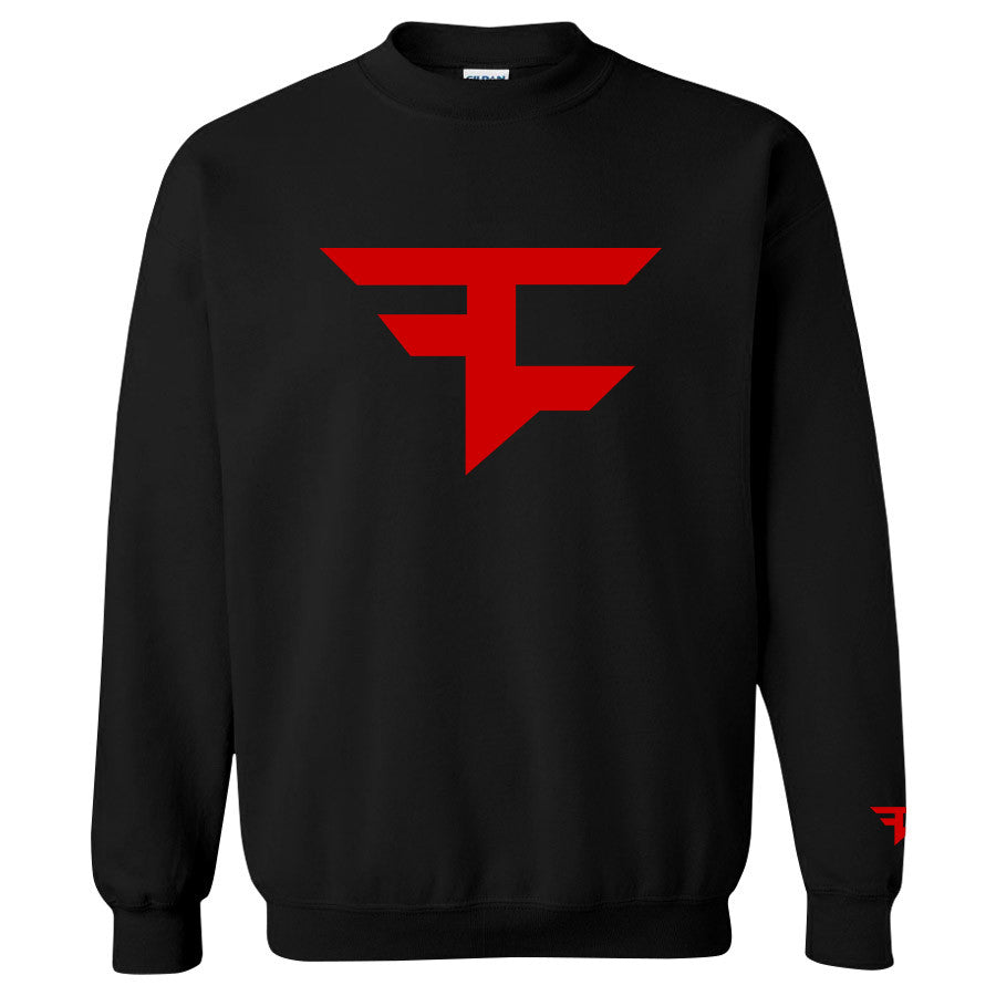 Iconic Crewneck - Red on Black
