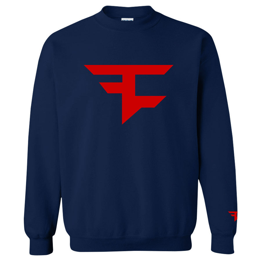 Iconic Crewneck - Red on Navy