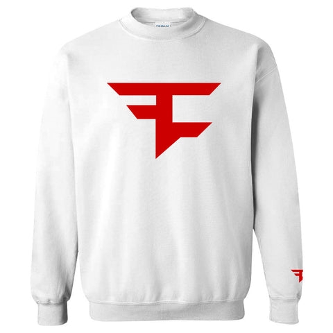 Iconic Crewneck - Red on White