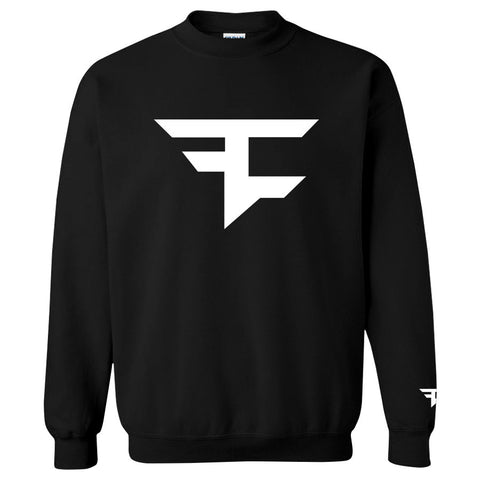Iconic Crewneck - White on Black
