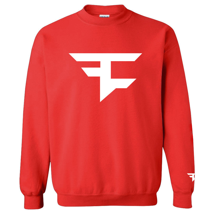Iconic Crewneck - White on Red