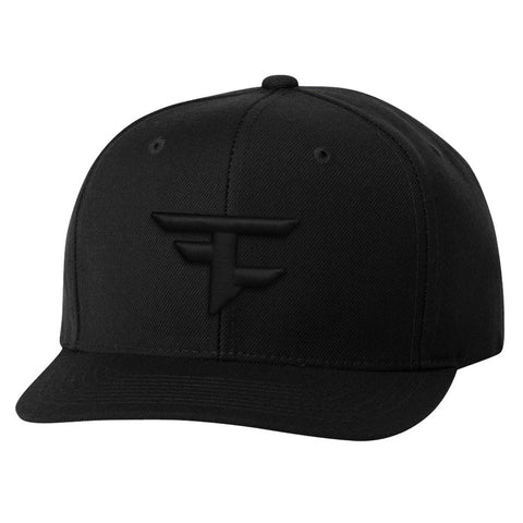 6 Panel Snapback Hat - Blk on Blk
