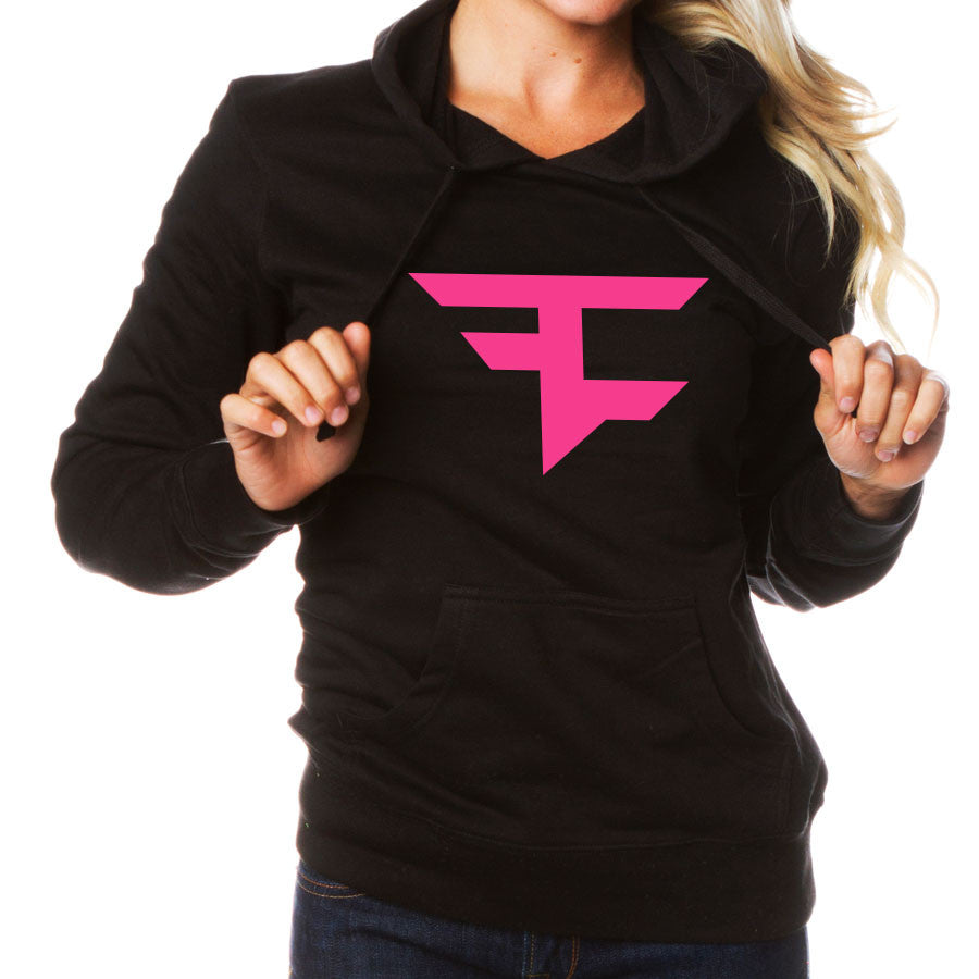 Girls Iconic Hoodie - NPnk on Blk