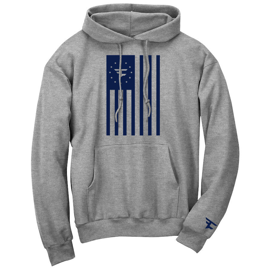 Flag Hoodie - Nvy on SprtGry