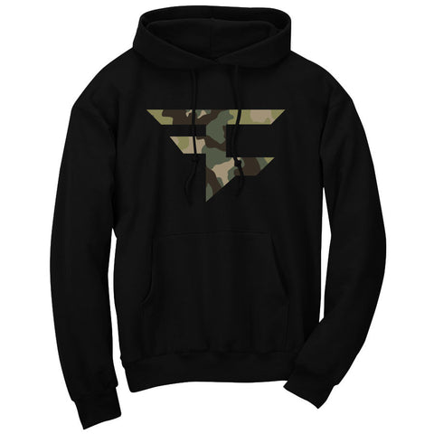 Iconic Hoodie - Camo on Blk