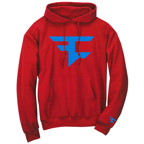 Iconic Hoodie - NBlu on Red