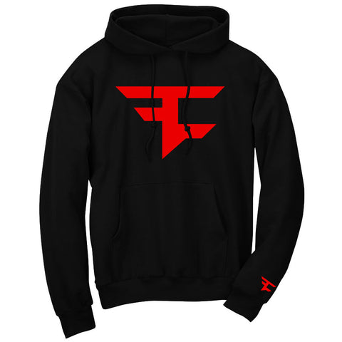 Iconic Hoodie - Red on Blk