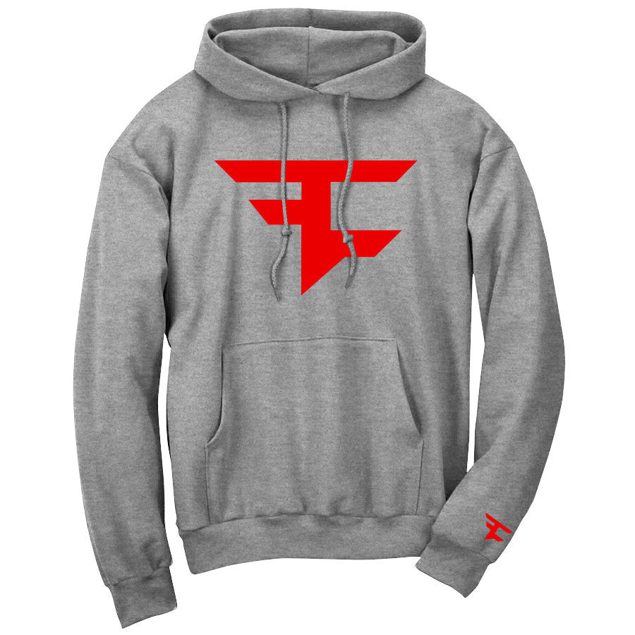 Iconic Hoodie - Red on SprtGry
