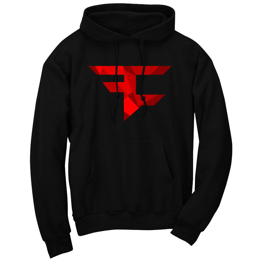 Iconic Hoodie - Ruby on Blk