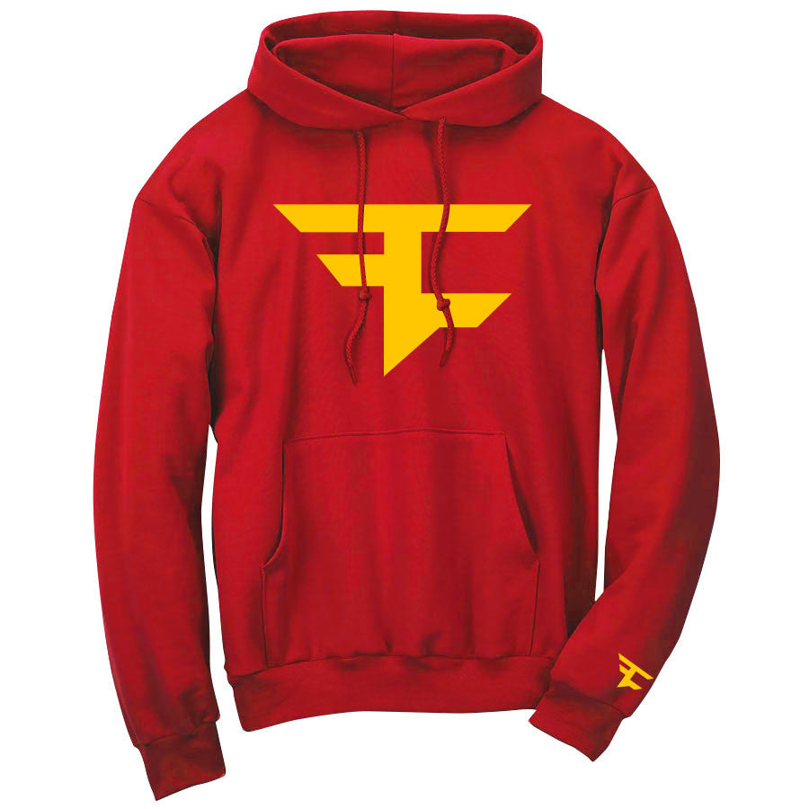 Iconic Hoodie - Yel on Red