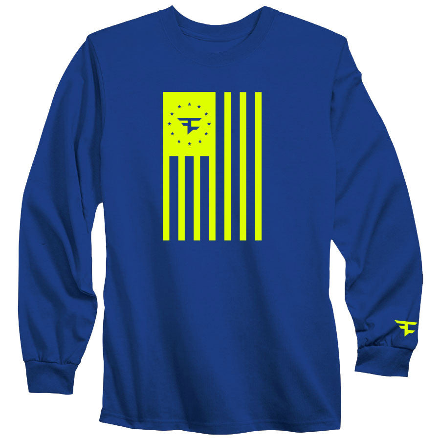 Flag Long Sleeve Tee - NYel on Ryl