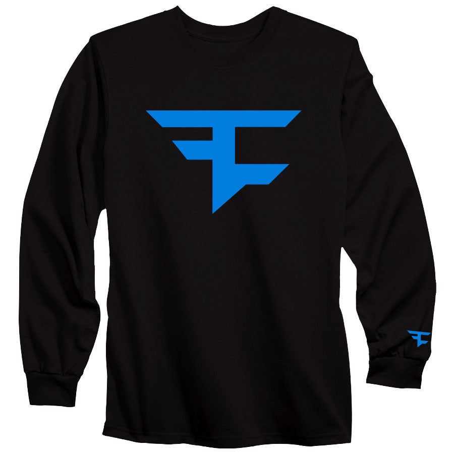 Iconic Long Sleeve Tee - NBlu on Blk