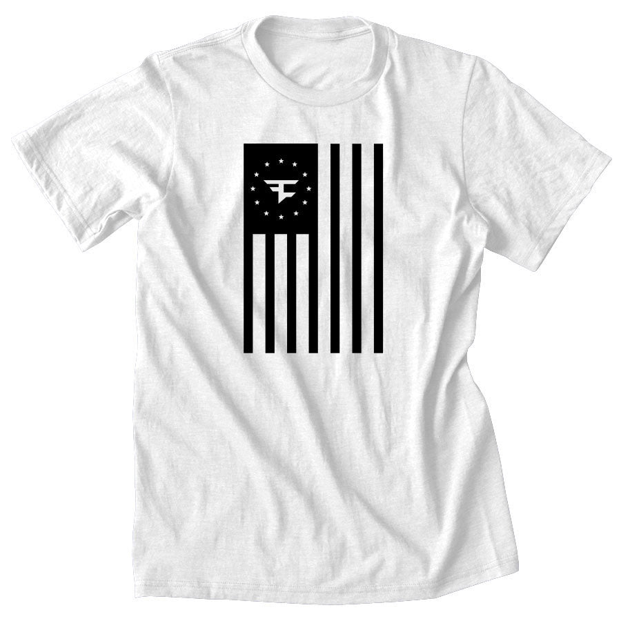 Flag Tee - Blk on Wht