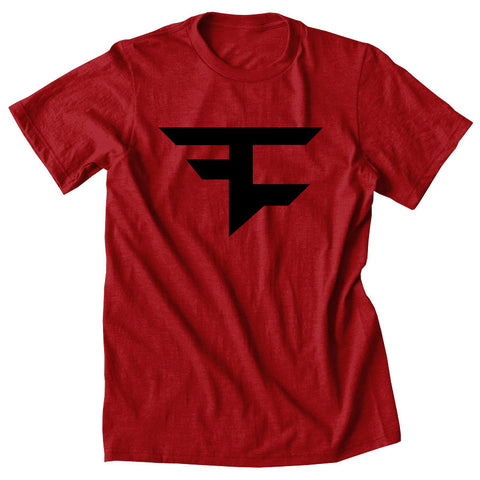 Iconic Tee - Blk on Red