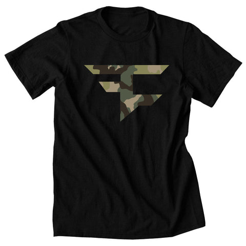 Iconic Tee - Camo on Blk