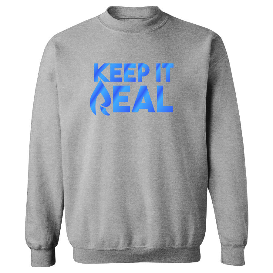 Rain Keep It Real FX Crewneck - Blu on SprtGry