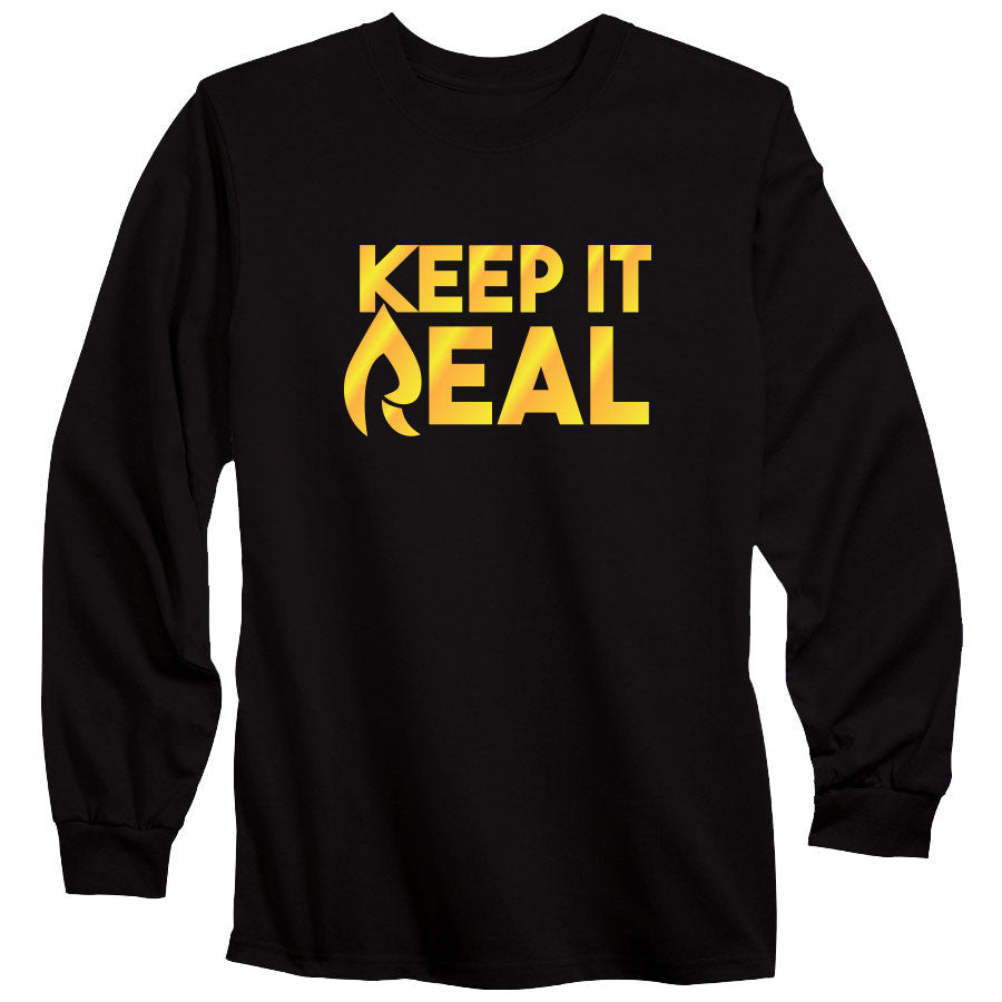 Rain Keep It Real FX Long Sleeve - Gld on Blk