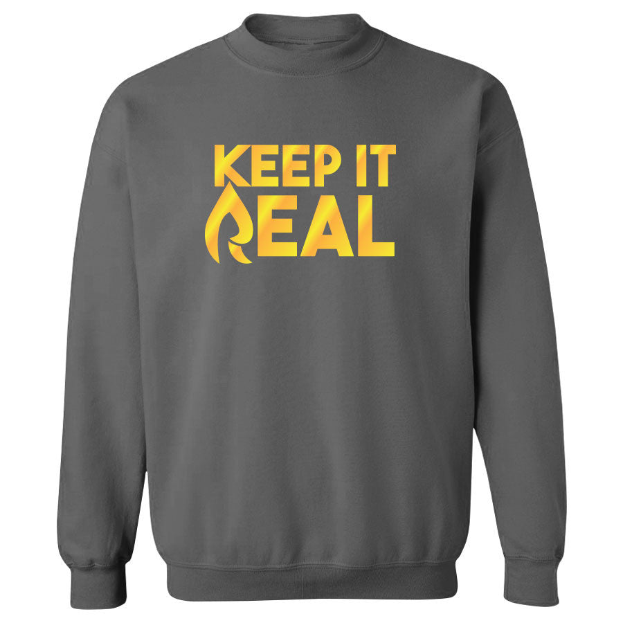Rain Keep It Real FX Crewneck - Gld on Chcl