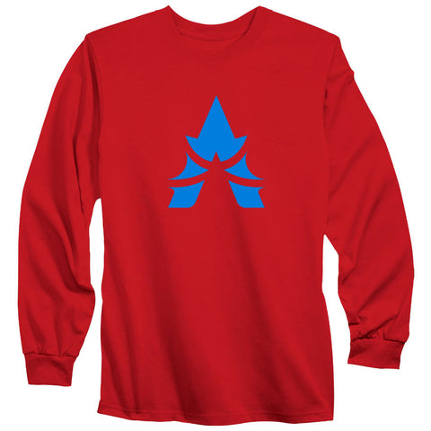 Apex Icon Long Sleeve - NBlu on Red