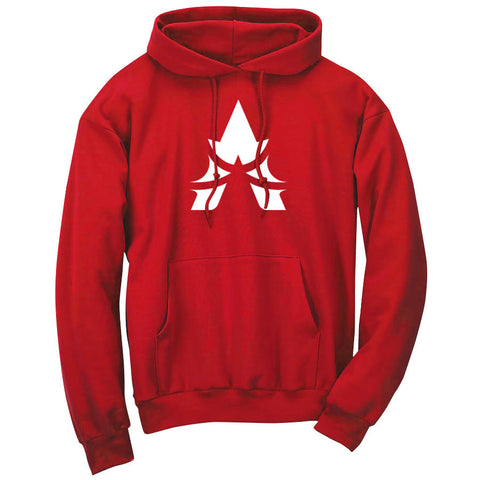 Apex Icon Hoodie - Wht on Red
