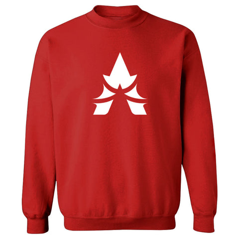Apex Icon Crewneck - Wht on Red