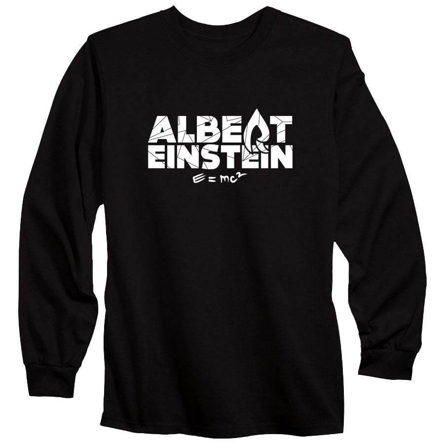 Rain Einstein Long Sleeve - Wht on Blk