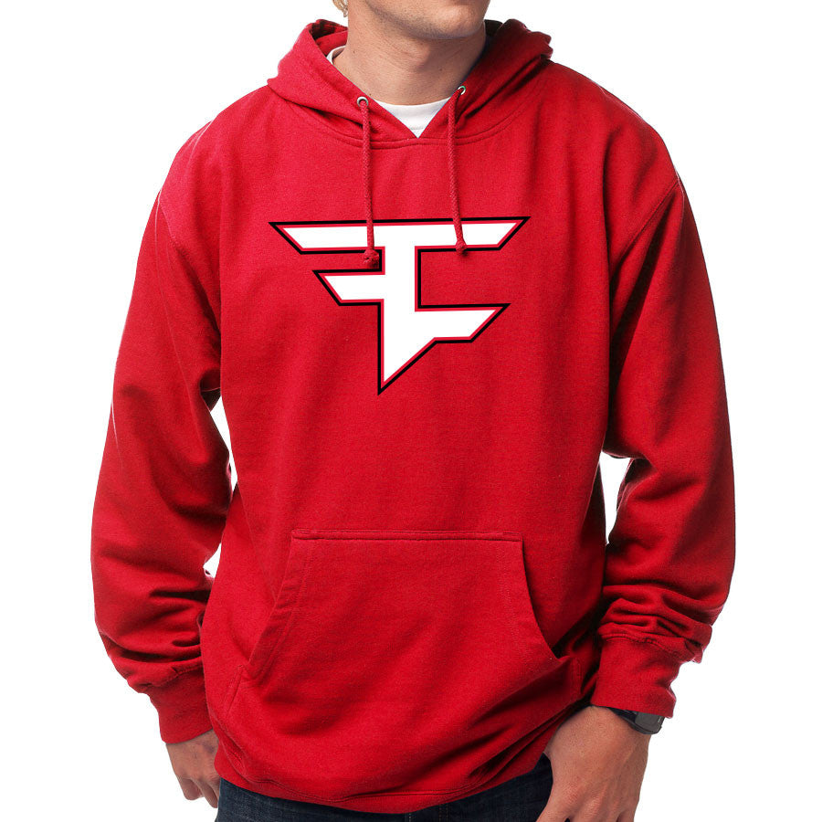 Custom Icon Hoodie - WhtBlk on Red
