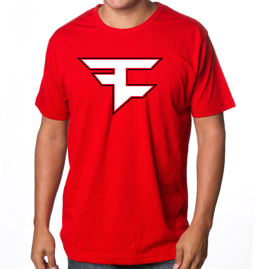 Custom Icon Short Sleeve - WhtBlk on Red
