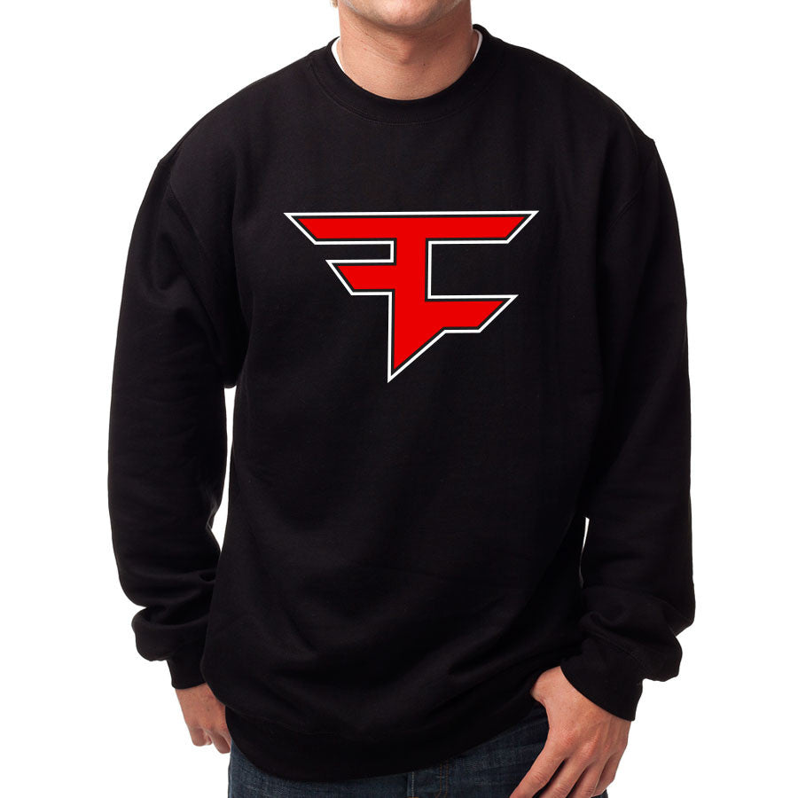 Custom Icon Crewneck - RedWht on Blk