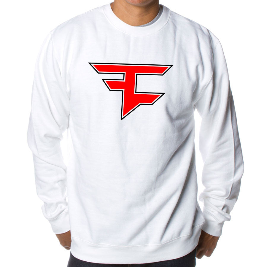 Custom Icon Crewneck - RedBlk on Wht