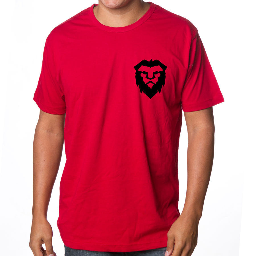 Temperrr Heart Short Sleeve - Blk on Red