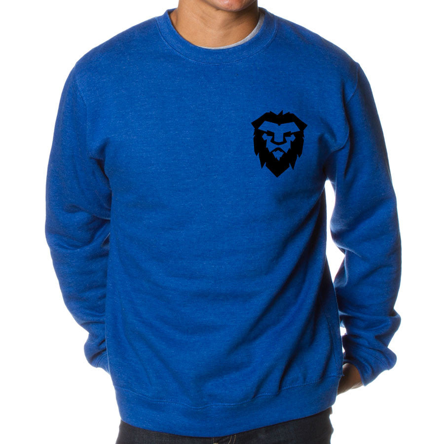 Temperrr Heart Crewneck - Blk on RylHthr