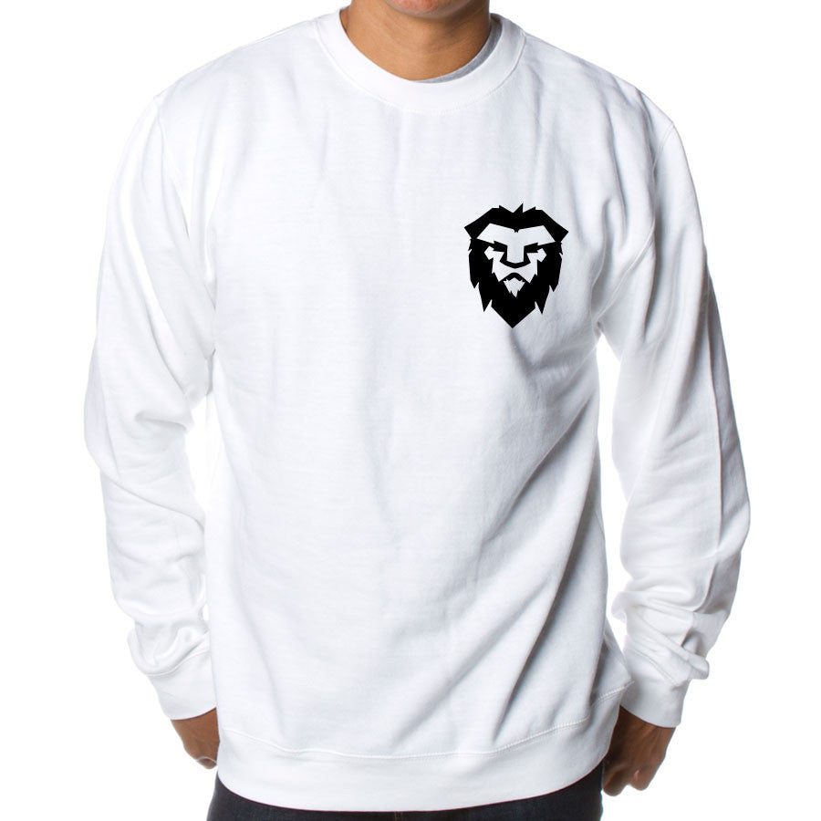 Temperrr Heart Crewneck - Blk on Wht