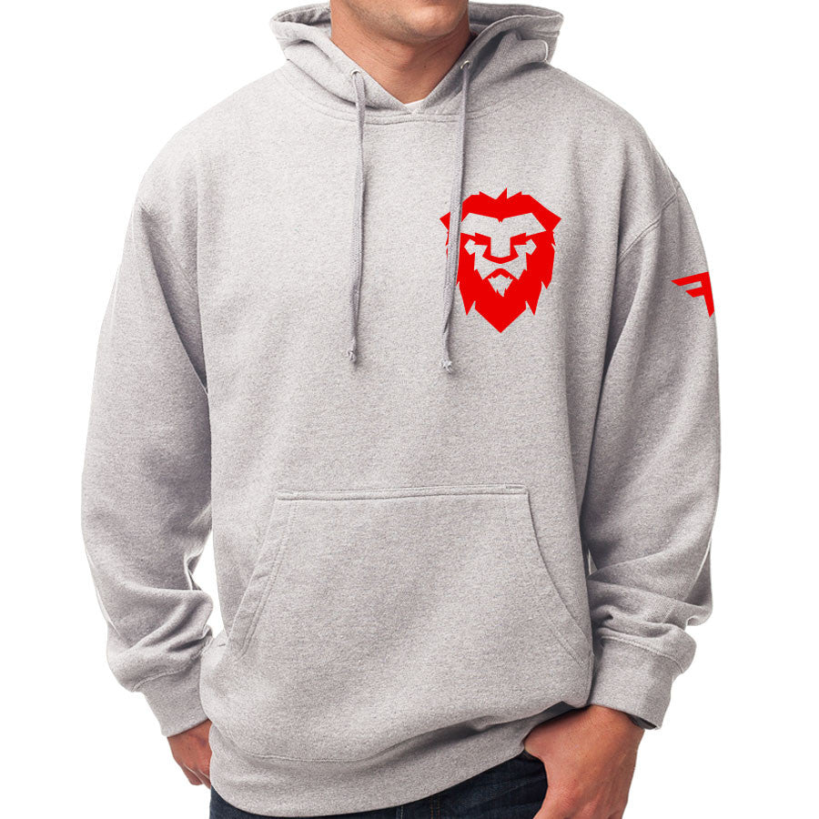 Temperrr Heart Hoodie - Red on SprtGry