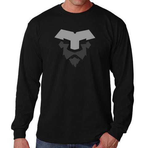 Temperrr Lion Long Sleeve - GryDGry on Blk