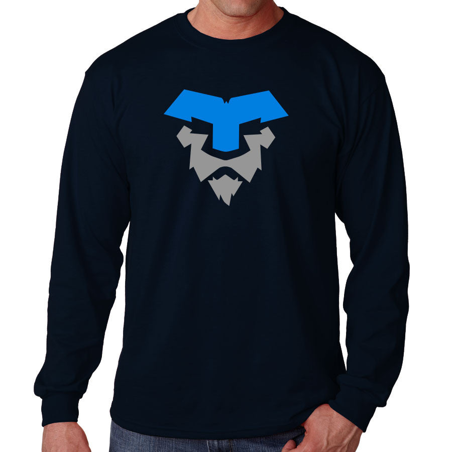 Temperrr Lion Long Sleeve - NBluGry on Nvy