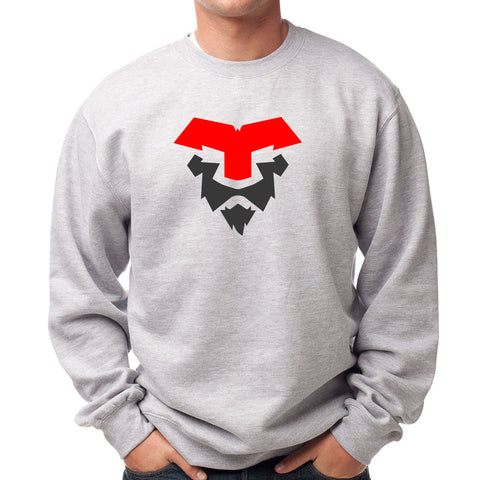 Temperrr Lion Crewneck - RedDGry on SprtGry