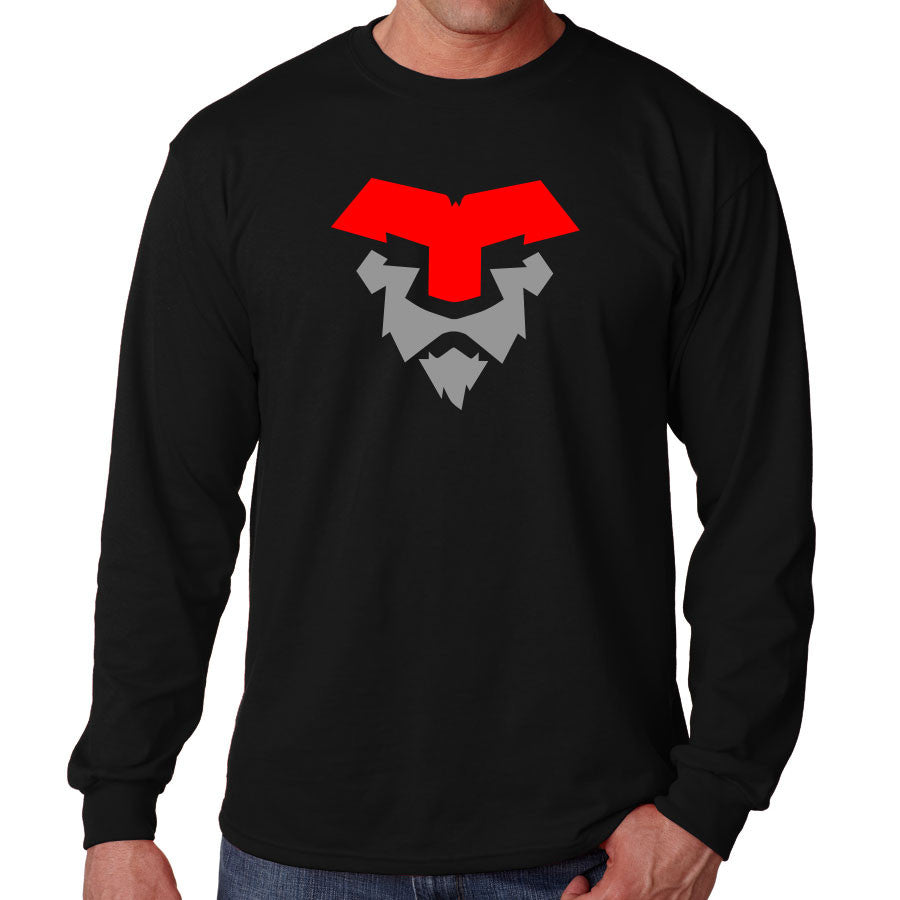 Temperrr Lion Long Sleeve - RedGry on Blk