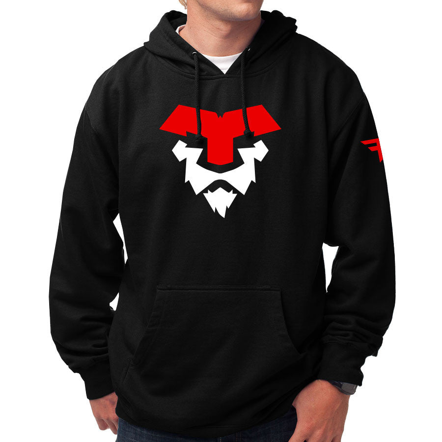 Temperrr Lion Hoodie - RedWht on Blk