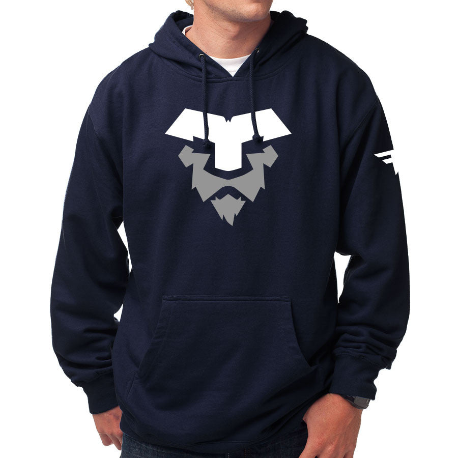 Temperrr Lion Hoodie - WhtGry on Nvy