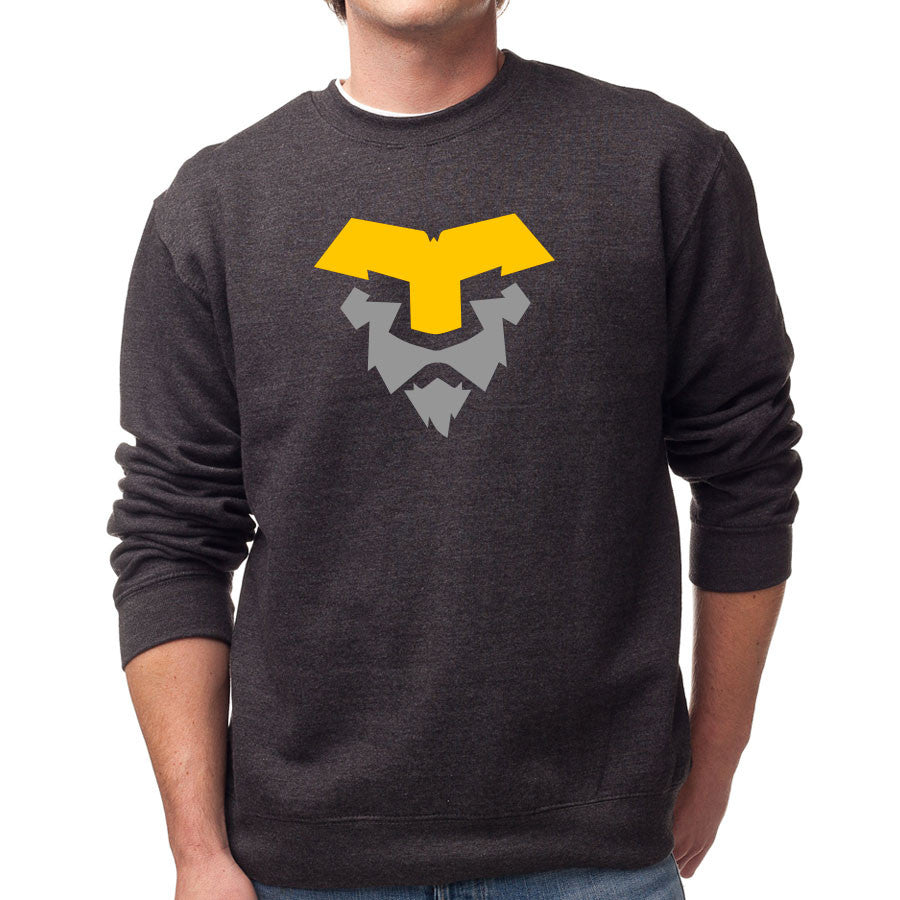 Temperrr Lion Crewneck - YelGry on ChclHthr