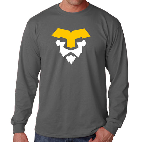 Temperrr Lion Long Sleeve - YelWht on Chcl
