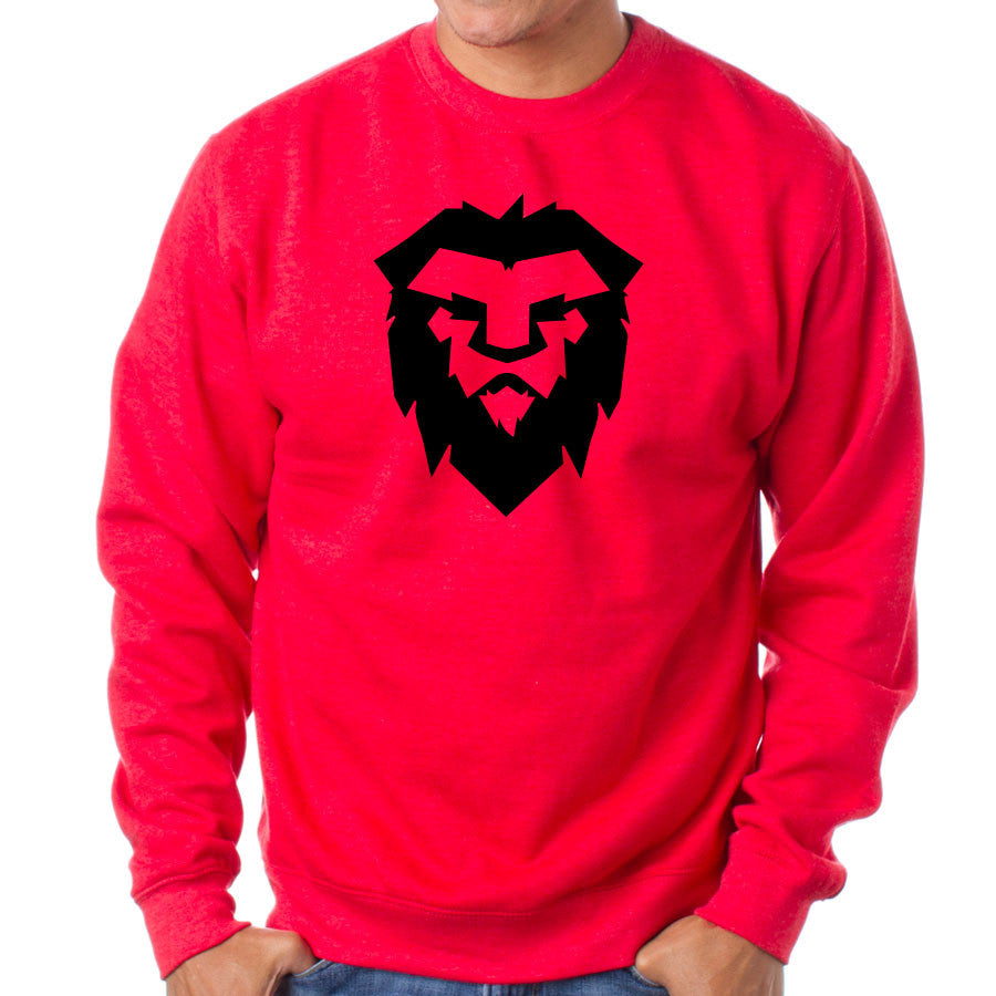 Temperrr Mane Crewneck - Blk on Red