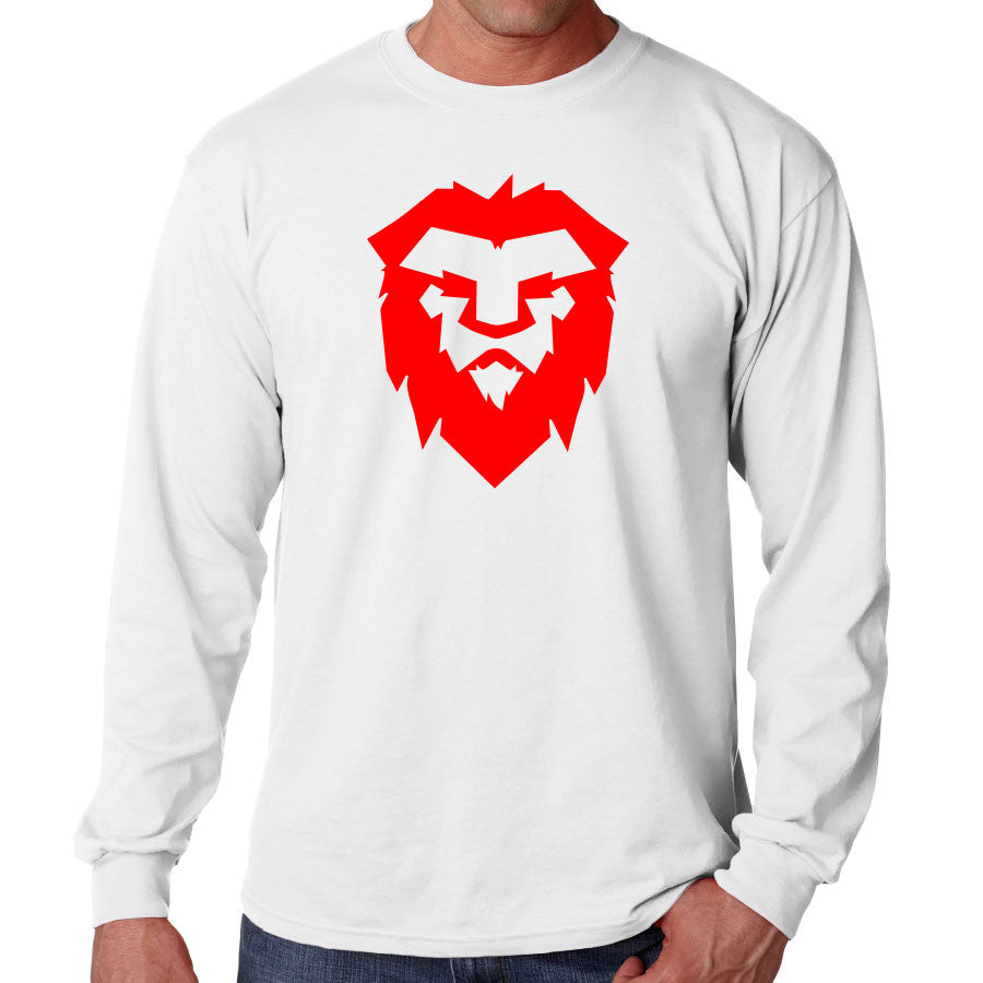 Temperrr Mane Long Sleeve - Red on Wht