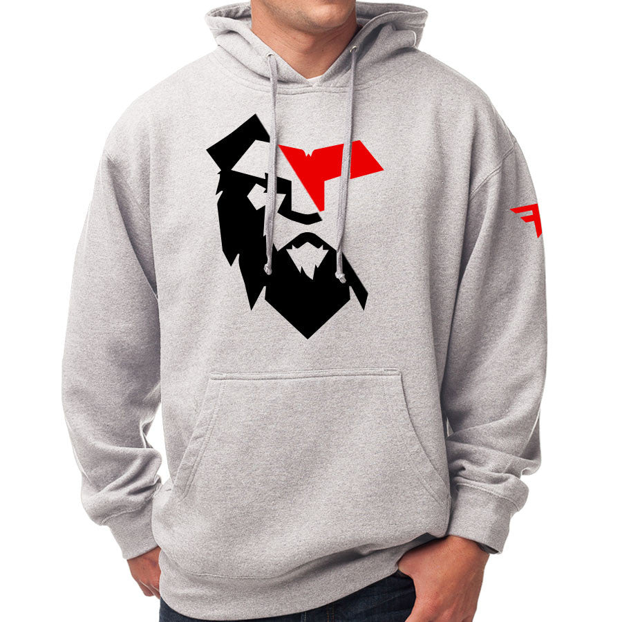 Temperrr Noble Hoodie - RedBlk on SprtGry