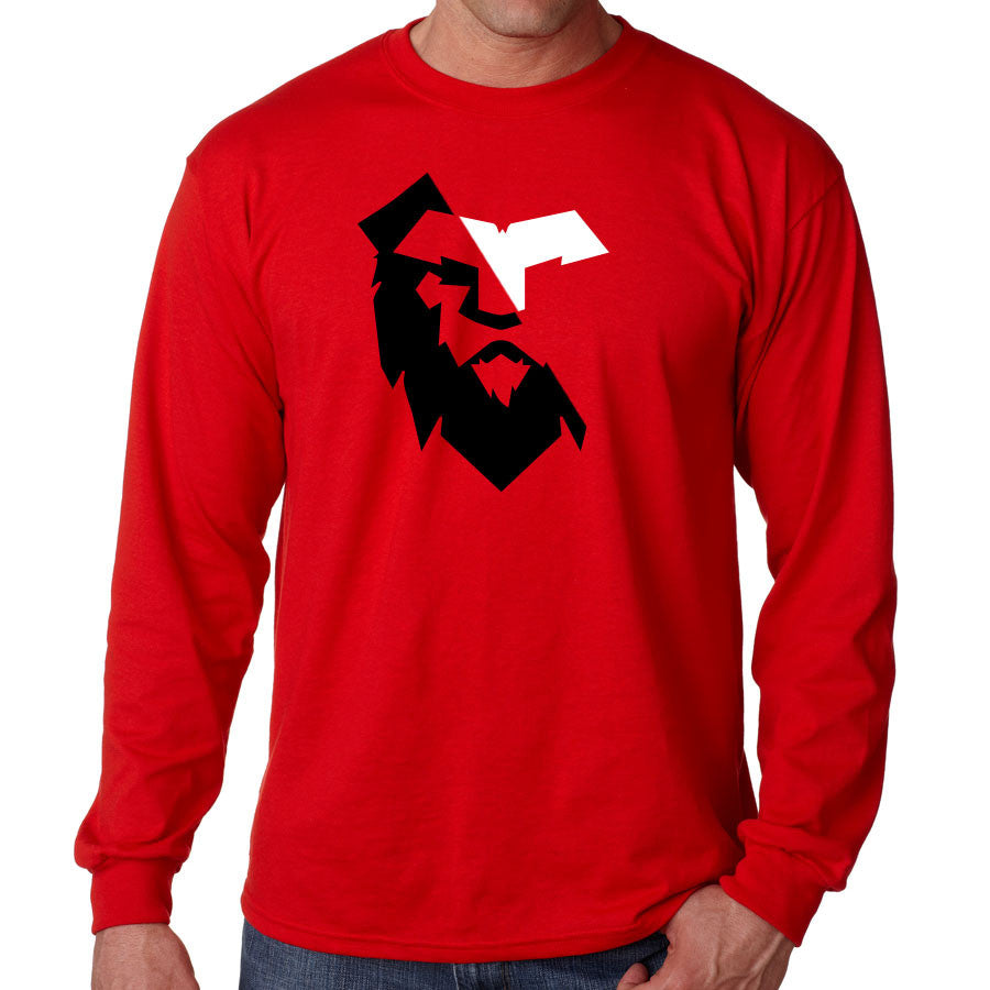 Temperrr Noble Long Sleeve - WhtBlk on Red