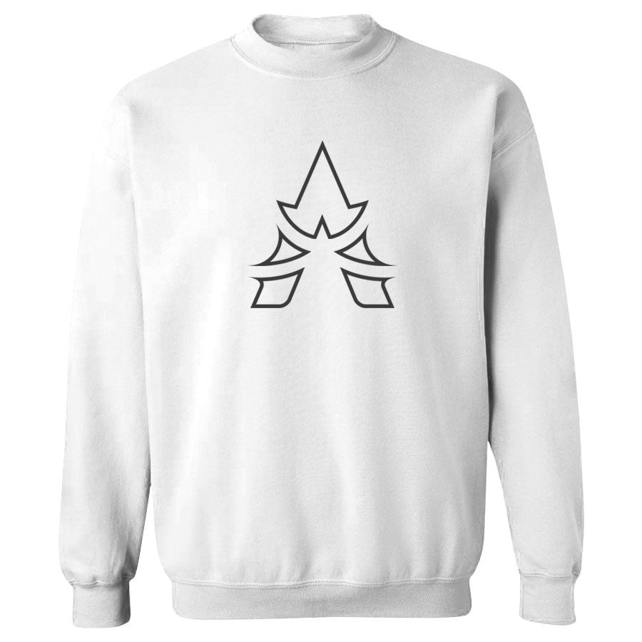 Apex Outline Crewneck - DGry on Wht
