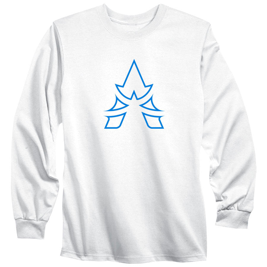 Apex Outline Long Sleeve - NBlu on Wht