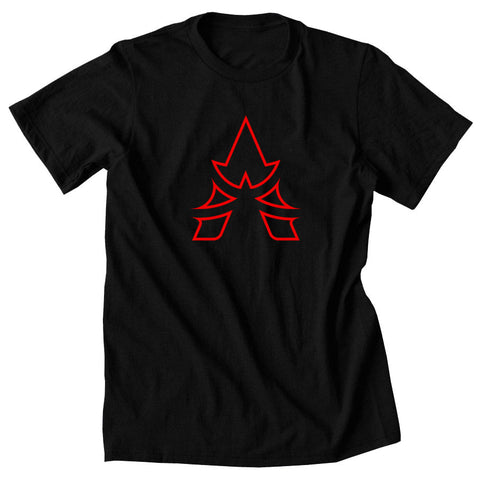 Apex Outline Short Sleeve - Red on Blk